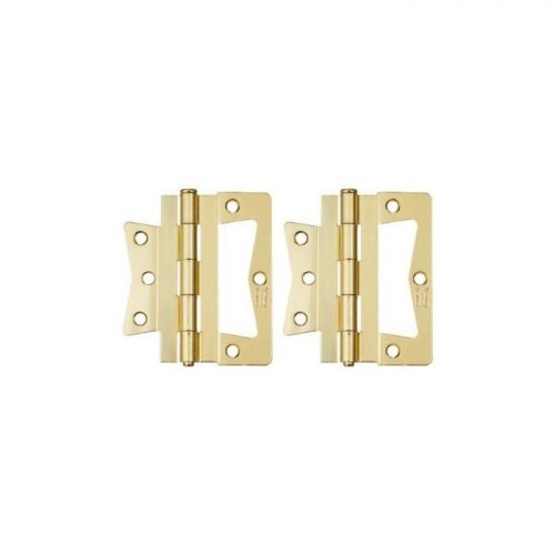 "Stanley 3""/76mm Hinges - Bright Brass (2pc)"