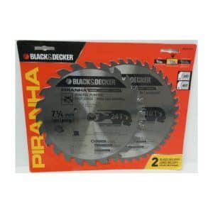 Black & Decker Piranha Circular Saw 2 Blade Pkg.